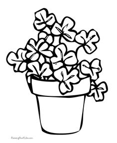 free printable shamrock coloring pages for st patricks day are fun for kids