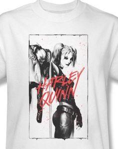 Harley Quinn T-shirt Joker Suicide Squad Batman white cotton graphic tee BM2270 #DCComics #GraphicTee