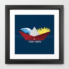 FishNChips Framed Art Print by Matt Irving - $37.00