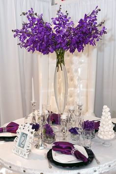 #Purple #Wedding … Wedding #ideas for brides, grooms, parents & planners https://itunes.apple.com/us/app/the-gold-wedding-planner/id498112599?ls=1=8 … plus how to organise an entire wedding, within ANY budget ♥ The Gold Wedding Planner iPhone #App ♥ For more inspiration http://pinterest.com/groomsandbrides/boards/    #ceremony #reception #bridal #party