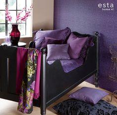 Vinyl vliesbehang baroque purple