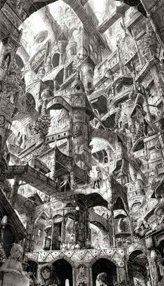 """What had began as a few stories of houses and stores, as extra space for the ever-growing city, began to take a life of its own, building upon one story and another, toppling and sprawling, criss-crossing into a maze of pathways, a hidden knowledge known only to the inhabitance of what had become known as the """"Sprawl"""". Jamie had never known any other place but these streets and sky-reaching buildings as his home."""