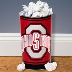 Ohio State Buckeyes Tapered Wastebasket