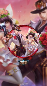 Wallpaper Phone Clint and Layla Valentine by FachriFHR - Free HD Wallpapers Mobile Legend Wallpaper, Hero Wallpaper, Mobiles, Cute Galaxy Wallpaper, Valentine Wallpaper, Miya Mobile Legends, Alucard Mobile Legends, Moba Legends, Hero Logo