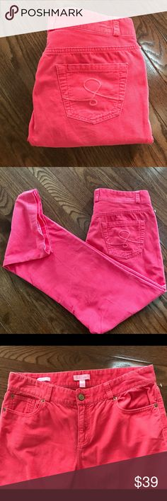 Lilly Pulitzer Mainline Fit Pink Corduroy Size 8 Lilly Pulitzer Mainline Fit Pink Cords / Size 8 do you line great used condition 9 inch front rise and 30 inch inseam / comfy and flattering!do 100% cotton / inside of Hem has cute Lace stiching Lilly Pulitzer Jeans Boot Cut