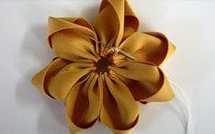 Crie e Faça Você Mesmo : Flor de seda passo a passo para aplique em cabelo
