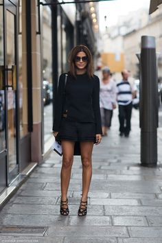 Christine Centenera #style | All Black #outfit