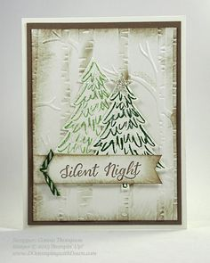 Peaceful Pines and Perfect Pines Framelits Dies cards shared by Dawn Olchefske #dostamping #stampinup (Connie Thompson)