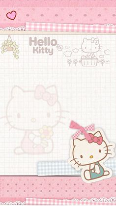 Hello Kitty paper Sanrio Wallpaper, Hello Kitty Wallpaper, Kawaii Wallpaper, Iphone Wallpaper, Hello Kitty Pictures, Kitty Images, Hello Kitty My Melody, Sanrio Hello Kitty, Little Twin Stars