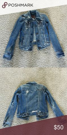 Abercrombie denim jacket Great condition! Super cute to complete your outfits! Abercrombie & Fitch Jackets & Coats