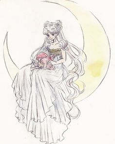 Neo Queen Serenity and Chibiusa Sailor Moon Manga, Sailor Moons, Sailor Moon Crystal, Cristal Sailor Moon, Arte Sailor Moon, Sailor Moon Fan Art, Sailor Moon Tattoos, Neo Queen Serenity, Princess Serenity