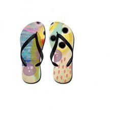 Twoheartsgirl Colorful White Elephant Print Beach Slippers Novelty Female Ladies Summer Beach Flip Flops Personalized Flipflops Shoes