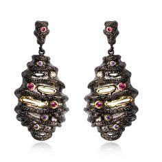 New arrival Vintage women Earrings black & gold plated with Cubic zircon big drop Earrings fashion jewelry free shipment
