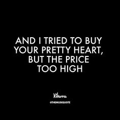 """Rihanna - """"Love on the Brain"""" Old Love Quotes, Love Song Quotes, Music Quotes, Love Songs, Quotes To Live By, Me Quotes, Funny Quotes, Rihanna Lyrics, Rihanna Quotes"""