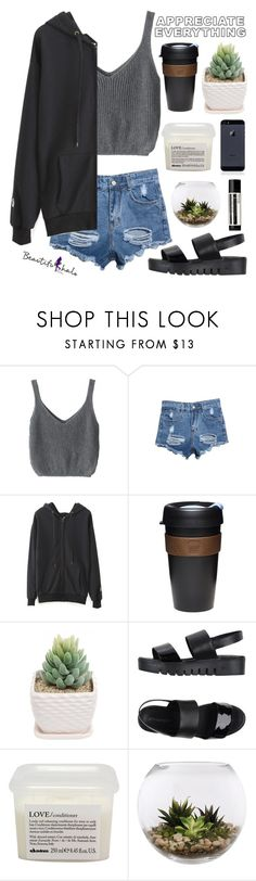 """""""#455 Lazy day ( Beautifulhalo 30 )"""" by mia5056 ❤ liked on Polyvore featuring WithChic, KeepCup, Jeffrey Campbell, Davines, Home Essentials, Aesop, beautifulhalo and bhalo"""