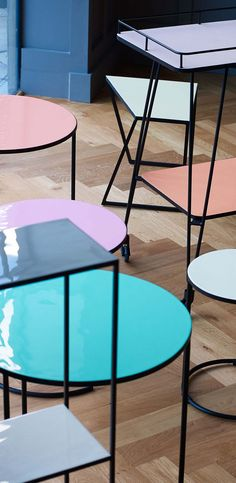 For furniture that can change with you, opt for our Pink Studio Set of Three Nesting Side Tables.