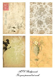 ephemera #paperie #printables #shabbychic #vintage #postcard