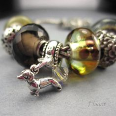 Dachshund Charm for European Bracelet Tiny by FlauntDesignsJewelry