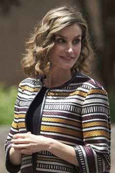 Pin for Later: The 1 Outfit You'll Want to Steal From Queen Letizia the Next Time You're Running Late One of the Main Components Was a Statement Jacket