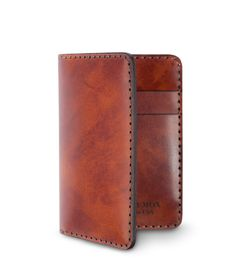 Oxblood Italian claf compact bi-fold wallet ($85) by Chester Mox, $85