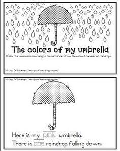 The Colors of My Umbrella....colors & counting book