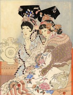Paul Jacoulet - series Chinese royal court