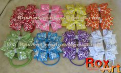 8 pair Pigtail Hair bow set. Small Hair bows. Sweet and Simple hair bow. Silver foil printed ribbon pigtail set rainbow hair bow rainbow fancy hair bow assorted hair bows toddler hair bows foil print ribbon Boutique hair bow special occasion hair ties bows for hair hair bows for girls small hair bows 26.00 USD #goriani