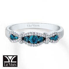 Wear the trend now!   Le Vian Blueberry Diamonds and Vanilla Diamonds Ring  in Vanilla Gold.