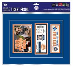 """New York Mets First Game Ticket Frame """"Frame It Yourself"""""""