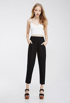Pleated Woven Pants | Forever21 - 2000096634