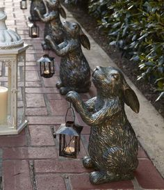 This adorable Bunny Lantern brings cuteness indoors or out