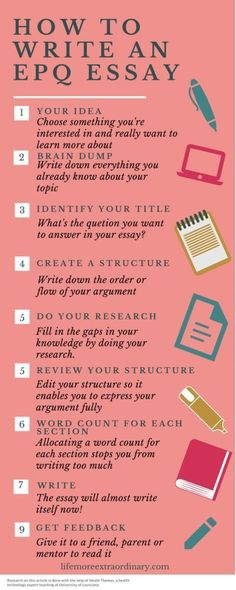 I'm always getting emails asking me how to write an EPQ essay. All my experience from years of essay writing, as well as writing my book, will help you. Pin for later! essays, order essay cheap, essay writing help, essay college, we do your essay, common application essay