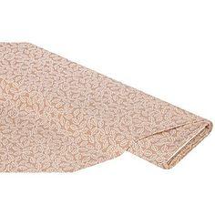 """Exklusiv von buttinette: Baumwollstoff """"Blätter"""" aus der Quiltserie Mona, bedruckt, aus besonders feiner, weicher und hochveredelter Baumwolle, Motivgröße Blatt: ca. 2 cm (ohne Stiel), Farbe: nussbraun/weiß, Breite: 150 cm, Gewicht: ca. 130 g/m². Material: 100 % Baumwolle."""