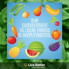 #Walmart's commitment to local farms is deeply rooted. #sustainability #agriculture