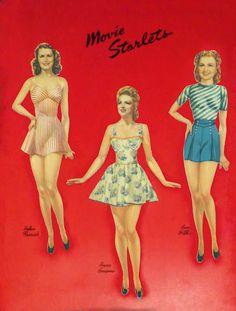 Movie Starlets from Whitman 1942 cut set for reference - Bobe Green - Picasa Webalbum