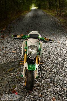 """Slice"" 2014 Honda Grom 2014 Honda Grom, Honda Ruckus, Honda Grom Custom, Motorcycle Gear, Bike, Video New, Scooters, Cool Cars, Badass"