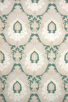 This roll of wallpaper is an authentic, old stock roll from the It is a full double roll, which will cover approximately 50 sq. Foyer Wallpaper, New Live Wallpaper, Wallpaper Crafts, Doll House Wallpaper, Antique Wallpaper, Art Deco Wallpaper, Trendy Wallpaper, Pattern Wallpaper, 1930s Decor