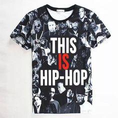 men/women t shirt 3d tupac/wiz khalifa/dgk/unkut/eminem print tshirt hip hop fashion rock t-shirt camisetas ropa