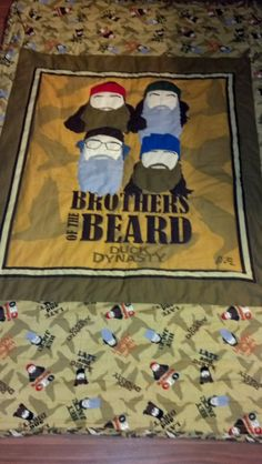 Duck Dynasty Quilted Throw great gift for Duck by SewSassybyMassey, $90.00