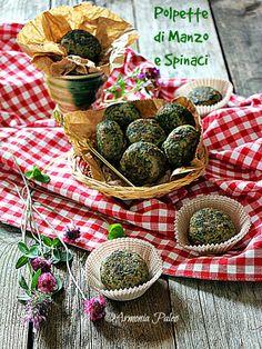 Paleo spinach meatballs - Armonia Paleo: Polpette di Manzo e Spinaci