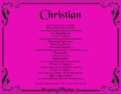 Meaning of name Christian, Meaning of baby name Christian. Tag : Meaning Of Christian, meaning of first name Christian, biblical meaning of Christian,Male name Christian, boy Christian
