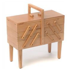 Buy Wooden Cantilever Sewing Box from the Sewing Machine Accessories range at Hobbycraft. Wooden Sewing Box, Sewing Table, Wooden Basket, Wooden Boxes, Craft Storage, Storage Boxes, Sewing Essentials, Sewing Headbands, Sewing Machine Accessories