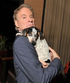 Kevin Kline and a dog