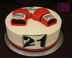 Boxing Gloves cake design by Party Flavors Custom Cakes.