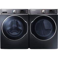 Samsung Appliance WF56H9100AG 5.6 cu. ft. Capacity Front Load Washer + DV56H9100GG 9.5 cu. ft. Capacity Front Load Gas Dryer (Onyx)