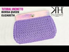 Crochet Clutch, Crochet Handbags, Crochet Purses, Crochet Hats, Crochet Bag Tutorials, Crochet Videos, Clutch Purse, Coin Purse, Photo Pattern
