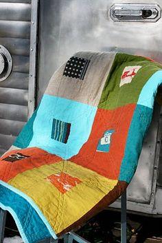 linen and Japanese fabric (Echino)
