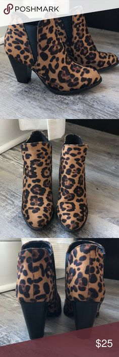 Cheetah booties Never been worn! Super cute cheetah booties ❤️ Make an offer! Bootie Boots, Ankle Boots, Cheetah, Super Cute, Booty, Closet, Shoes, Things To Sell, Style
