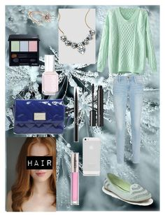 """""""Mint in winter"""" by linakishawi ❤ liked on Polyvore featuring Frame Denim, Disney, Shiseido, Stila, Witchery, Marc by Marc Jacobs, CARGO and Essie"""