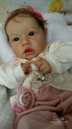 dc46d36c4 boneca reborn original Saskia Corpo de pano. Cabelo implantado fio a fio.  Pintura realista. Ana Paula Lincoln Maternidade Reborn
